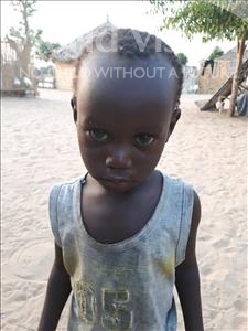 Choose a child to sponsor, like this little boy from Loul, MICHEL NGOR age 2