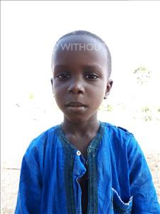 Ibrahima Ndigue, aged 5, from Senegal, is hoping for a World Vision sponsor