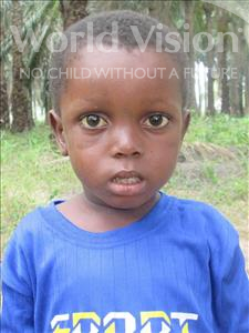 Choose a child to sponsor, like this little boy from Jong, Morie age 6