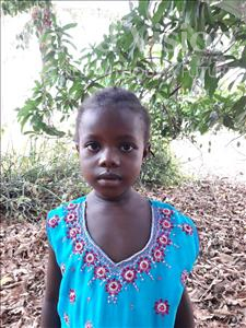 Jenneh, aged 5, from Sierra Leone, is hoping for a World Vision sponsor