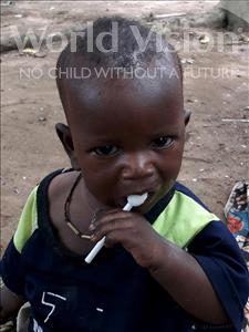 Choose a child to sponsor, like this little boy from Imperi, Enala age