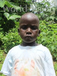 Choose a child to sponsor, like this little boy from Tegloma, Allieu age 4