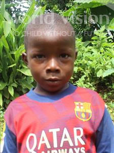 Choose a child to sponsor, like this little boy from Tegloma, Amodu age 7