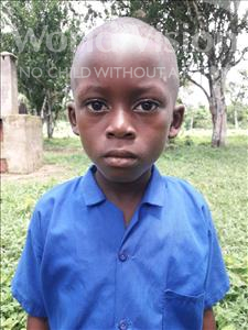 Choose a child to sponsor, like this little boy from Tegloma, Emanuel age 7