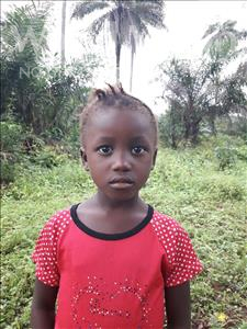 Choose a child to sponsor, like this little Girl from Tegloma, Mattu age 6