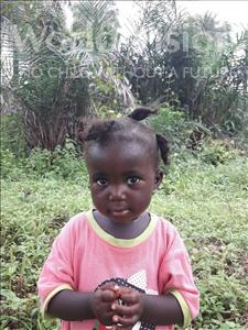 Choose a child to sponsor, like this little girl from Tegloma, Alimatu age 3