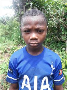 Choose a child to sponsor, like this little boy from Tegloma, Tommy age 9