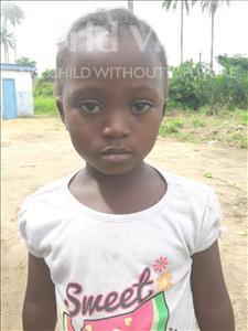 Choose a child to sponsor, like this little girl from Tegloma, Isata age 6