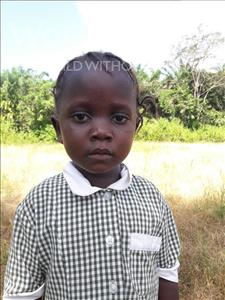 Choose a child to sponsor, like this little girl from Tegloma, Mariama age 5