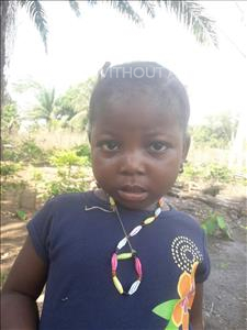 Choose a child to sponsor, like this little girl from Tegloma, Musu age 3