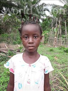 Elizabeth, aged 6, from Sierra Leone, is hoping for a World Vision sponsor