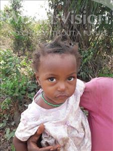 Choose a child to sponsor, like this little girl from Tegloma, Fudia age 5