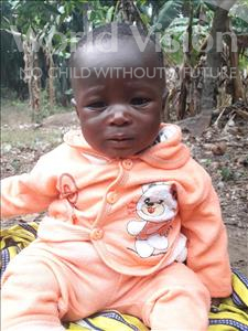 Choose a child to sponsor, like this little boy from Tegloma, Gilbrilla age under 1