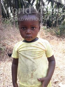Choose a child to sponsor, like this little girl from Tegloma, Wuya age 3