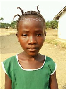 Choose a child to sponsor, like this little girl from Jaiama Bongor, Amara age 8