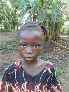 Choose a child to sponsor, like this little girl from Jaiama Bongor, Matta age 7
