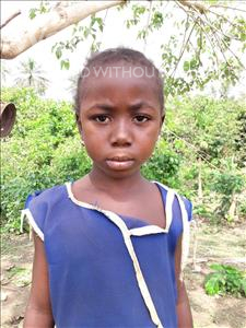 Choose a child to sponsor, like this little girl from Jaiama Bongor, Jenneh age 7