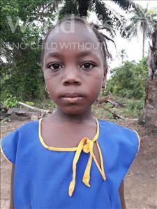 Choose a child to sponsor, like this little girl from Jaiama Bongor, Massah age 8
