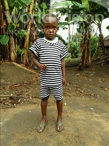 Choose a child to sponsor, like this little boy from Jaiama Bongor, Sulaiman age 5