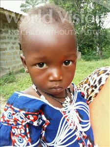 Choose a child to sponsor, like this little boy from Jaiama Bongor, Lucinda age 1