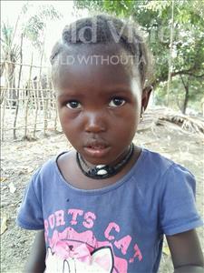 Choose a child to sponsor, like this little girl from Jaiama Bongor, Massah age 3