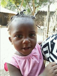 Choose a child to sponsor, like this little girl from Jaiama Bongor, Adamsay age 1