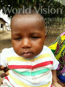Choose a child to sponsor, like this little boy from Jaiama Bongor, Alhaji age under 1