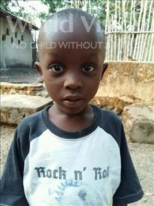 Choose a child to sponsor, like this little boy from Jaiama Bongor, Malikie age 5