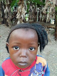 Mamie, aged 3, from Sierra Leone, is hoping for a World Vision sponsor