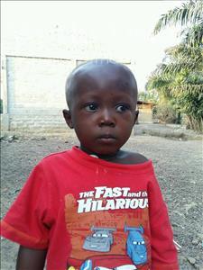 Choose a child to sponsor, like this little boy from Jaiama Bongor, Dauda age 3