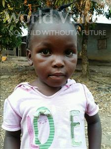 Choose a child to sponsor, like this little girl from Jaiama Bongor, Agnes age 3