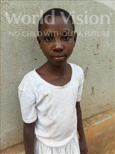 Choose a child to sponsor, like this little girl from Kibiga-Mulagi (Kimu), Florence age 8