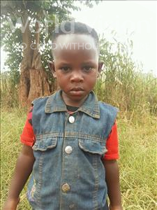 Choose a child to sponsor, like this little girl from Kibiga-Mulagi (Kimu), Judith age 4