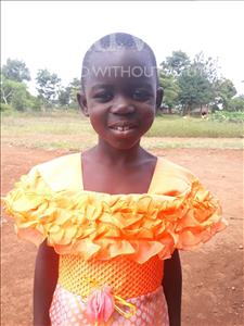 Choose a child to sponsor, like this little girl from Busitema, Pencinsi age 6