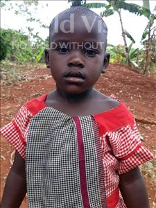 Choose a child to sponsor, like this little girl from Ntwetwe, Majorine age 4