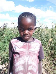 Choose a child to sponsor, like this little boy from Keembe, Evans Jr age 7