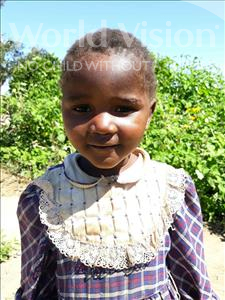 Choose a child to sponsor, like this little girl from Keembe, Laina age 3