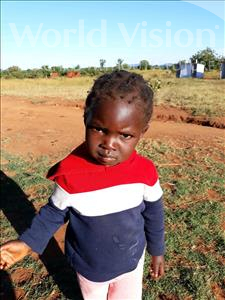 Choose a child to sponsor, like this little girl from Keembe, Ngandu age 3
