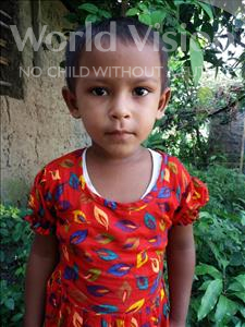 Choose a child to sponsor, like this little girl from Ghoraghat, Nusrat Jahan age 3