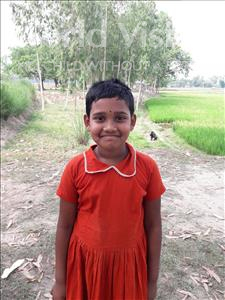 Choose a child to sponsor, like this little girl from Ghoraghat, Habibi Jisa age 6