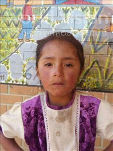 Choose a child to sponsor, like this little girl from Mosoj Punchay, Elizabeth age 7