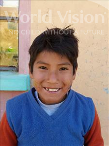 Choose a child to sponsor, like this little boy from Mosoj Punchay, Bladimir age 8