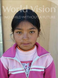 Choose a child to sponsor, like this little girl from Mosoj Punchay, Yuviza age 10