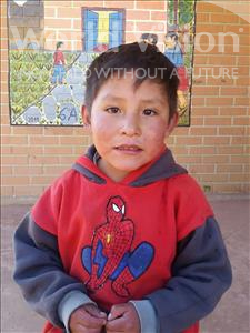 Choose a child to sponsor, like this little boy from Mosoj Punchay, Luis Fernando age 6