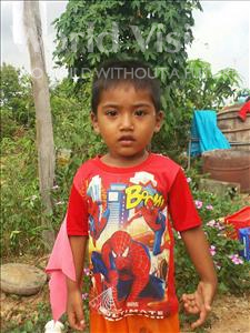Choose a child to sponsor, like this little boy from Koas Krala, Kimleang age 3