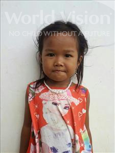 Choose a child to sponsor, like this little girl from Koas Krala, Ry Sreinich age 4