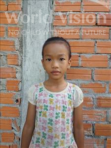 Choose a child to sponsor, like this little girl from Koas Krala, Salin age 8