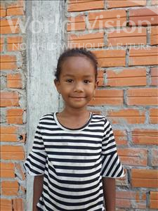 Choose a child to sponsor, like this little girl from Koas Krala, Chantha age 6