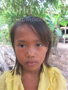 Choose a child to sponsor, like this little girl from Soutr Nikom, Vimean age 10