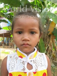 Choose a child to sponsor, like this little girl from Soutr Nikom, Maly age 4
